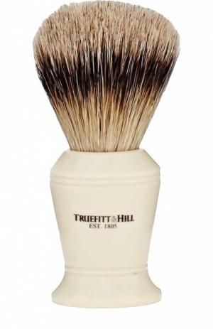 Кисть для бритья, Ворс серебристого барсука / Слоновая кость с серебром Carlton Truefitt&Hill. Цвет: бесцветный