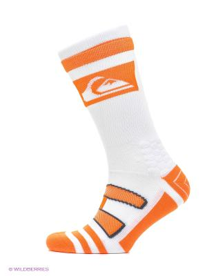 Носки Quiksilver. Цвет: оранжевый, белый