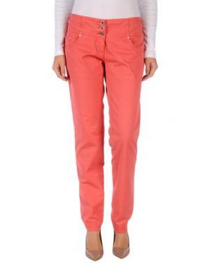 Повседневные брюки DIVINA. Цвет: коралловый