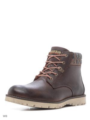 Ботинки NAPAPIJRI. Цвет: темно-коричневый, темно-бордовый