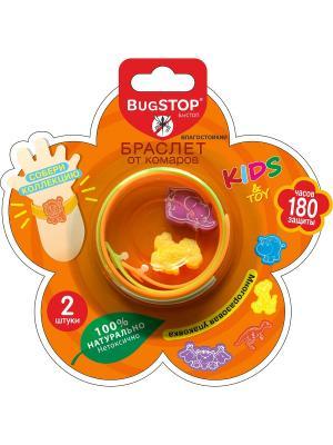 Bugstop Браслет от комаров Kids&Toy 2 шт.. Цвет: оранжевый