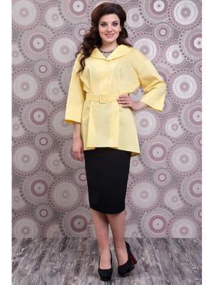 Блузка DEESSE. Цвет: желтый