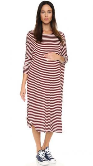 Драпированное платье из джерси HATCH. Цвет: серый