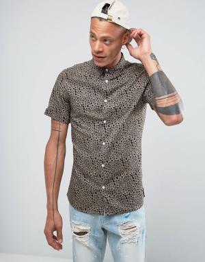 Systvm Рубашка с леопардовым принтом. Цвет: коричневый