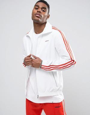 Adidas Originals Белая спортивная куртка London Pack MDN BK7851. Цвет: белый