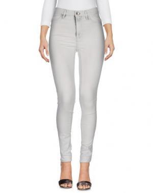 Джинсовые брюки HAIKURE. Цвет: светло-серый