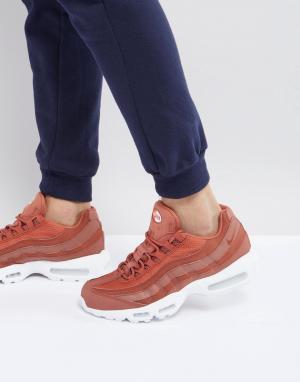 Nike Оранжевые кроссовки Air Max 95 Premium SE 924478-200. Цвет: оранжевый