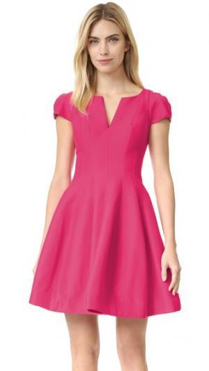 Платье с широкой юбкой Halston Heritage. Цвет: вишневый