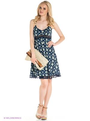 Платье Befree. Цвет: темно-синий