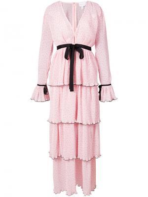 Длинное платье Now Or Never Alice Mccall. Цвет: розовый и фиолетовый