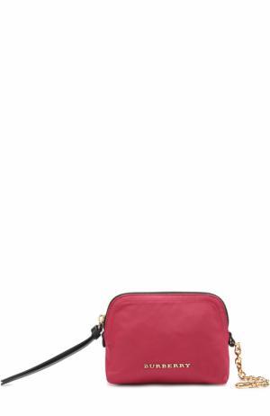 Текстильная косметичка-кошелек Burberry. Цвет: розовый