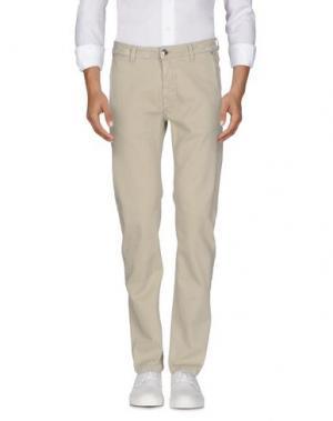 Джинсовые брюки BARBA Napoli. Цвет: светло-серый