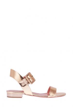 Золотистые сандалии Blumarine. Цвет: золотой