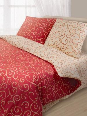 Комплект постельного белья Волшебная ночь. Цвет: красный