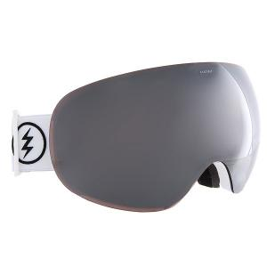 Маска для сноуборда  Eg3 Gloss White+Black/Brose/Silver Chrome Electric. Цвет: белый