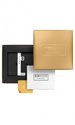 Маска для лица 24k pure gold Mimi Luzon. Цвет: золотой