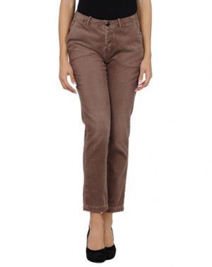 Повседневные брюки BELLEROSE. Цвет: голубиный серый