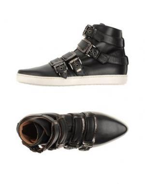 Высокие кеды и кроссовки ALTIEBASSI. Цвет: черный