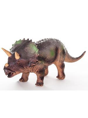 Megasaurs Фигурка Трицератопс HGL. Цвет: коричневый, горчичный, темно-бежевый