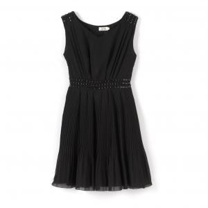 Платье без рукавов с поясом MOLLY BRACKEN. Цвет: черный