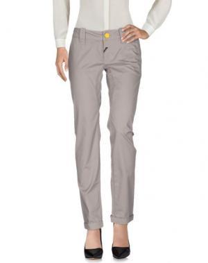 Повседневные брюки DEK'HER. Цвет: голубиный серый