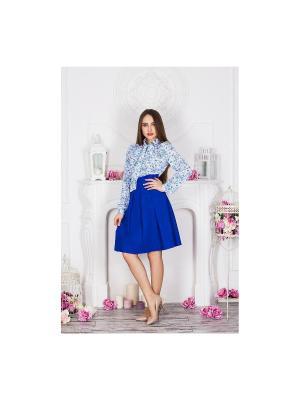 Блузка Anastasia Kovall. Цвет: белый, голубой