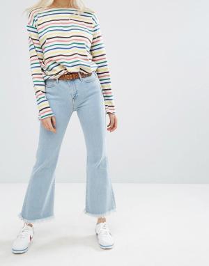 MiH Jeans Укороченные джинсы с завышенной талией M.i.h Lou. Цвет: синий