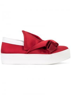 Bow detail slip-on sneakers Nº21. Цвет: красный
