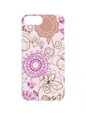 Чехол для iPhone 7Plus Лиловый узор Арт. 7Plus-086 Chocopony. Цвет: розовый, сиреневый