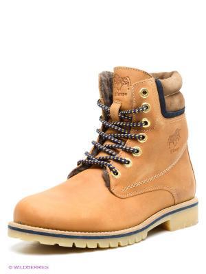 Ботинки El Tempo. Цвет: светло-коричневый