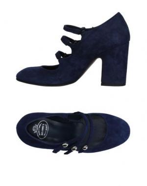 Туфли BRAWN'S. Цвет: темно-синий