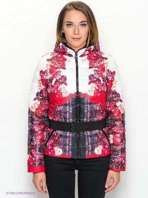 Куртка CONVER. Цвет: белый, красный