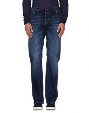 Джинсовые брюки KOHZO. Цвет: синий