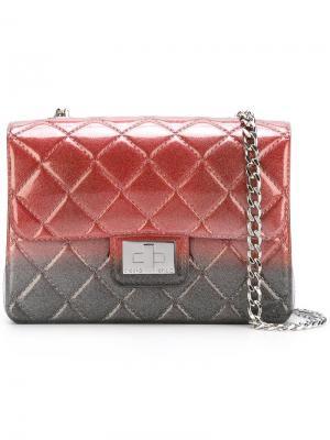 Стеганая сумка на плечо Designinverso. Цвет: серый