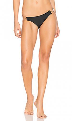 Solid vinyl detail bottom Vix Swimwear. Цвет: черный