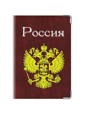 Обложка для паспорта Россиянин Tina Bolotina. Цвет: темно-красный, желтый
