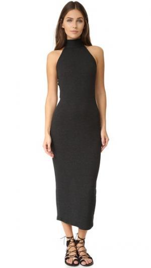 Платье-свитер Lexine в рубчик Rachel Pally. Цвет: серый