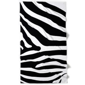 Полотенце пляжное с жаккардовым рисунком зебра La Redoute Interieurs. Цвет: экрю/черный