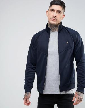 Farah Бордовая трикотажная куртка на молнии Lancaster. Цвет: темно-синий