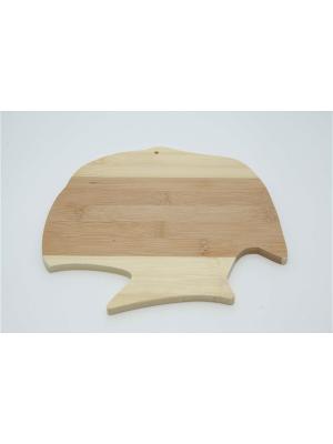 Доска разделочная бамбук фигурная, CP003 Vetta. Цвет: бежевый