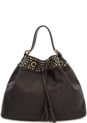 Коричневая сумка из натуральной кожи Io Pelle. Цвет: коричневый