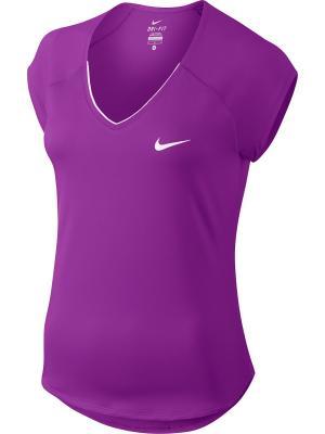 Футболка W NKCT TOP PURE Nike. Цвет: фиолетовый, белый
