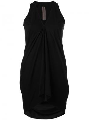 Драпированная блузка с V-образным вырезом Rick Owens DRKSHDW. Цвет: чёрный