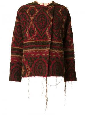 Куртка с необработанными краями Uma Wang. Цвет: красный