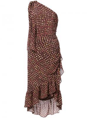 Асимметричное платье Imogen Ulla Johnson. Цвет: коричневый