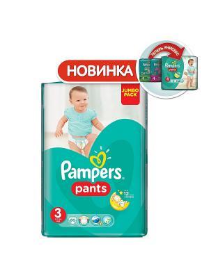 Трусики Pants 6-11кг, размер 3, 60 шт. Pampers. Цвет: зеленый