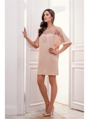 Платье Laete. Цвет: бежевый