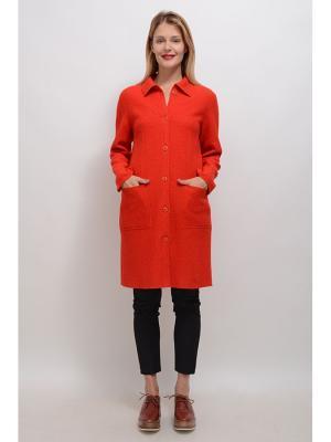 Пальто Баски LINO RUSSO. Цвет: красный