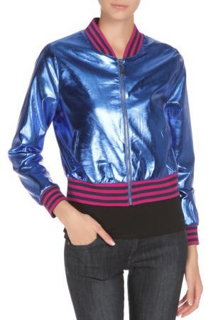 Куртка-бомбер BGN. Цвет: sax / цвет морской волны