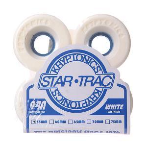 Колеса для скейтборда лонгборда  Star Trac White/Blue 94A 55 mm Kryptonics. Цвет: белый